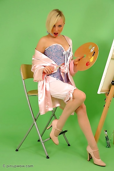 Belle blonde Pin-up
