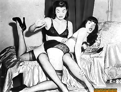 Lewd and disgusting spanking and catfights vintage photos - part 923