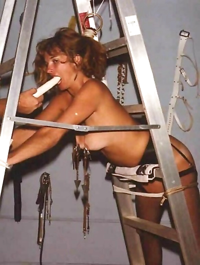 Retro bdsm of blonde milf in nipple stretching and tit torture - part 563